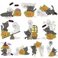 Halloween Friends Embroidery Design Bundle