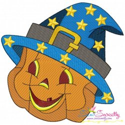 Smiley Pumpkin-2 Embroidery Design