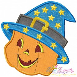 Smiley Pumpkin-2 Applique Design