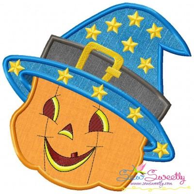 Smiley Pumpkin-2 Applique Design