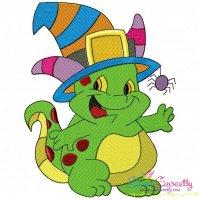 Halloween Dino Embroidery Design