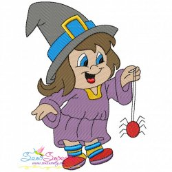 Trick or Treat Girl-2 Embroidery Design