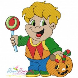 Trick or Treat Boy-3 Embroidery Design