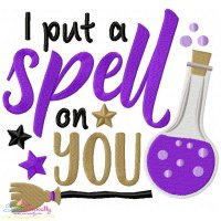 I Put a Spell On You Lettering Embroidery Design