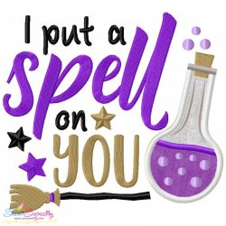 I Put a Spell On You Lettering Applique Design