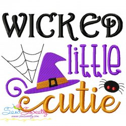 Wicked Little Cutie Lettering Embroidery Design