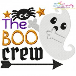 The Boo Crew Lettering Embroidery Design