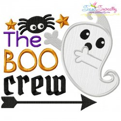 The Boo Crew Lettering Applique Design