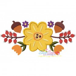 Fall Swag Applique Embroidery Design