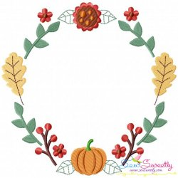 Fall Wreath-1 Embroidery Design