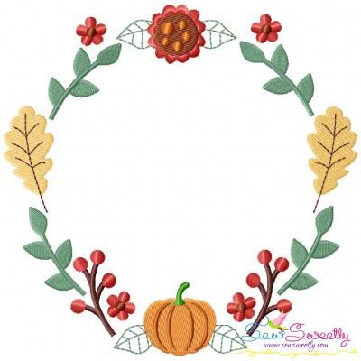 Fall Wreath-1 Embroidery Design