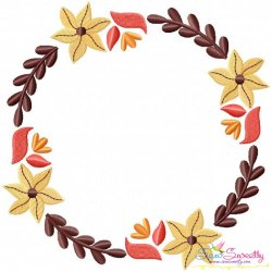 Fall Wreath-2 Embroidery Design