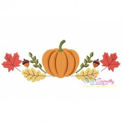Pumpkin Swag Embroidery Design