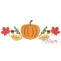 Pumpkin Swag Applique Design