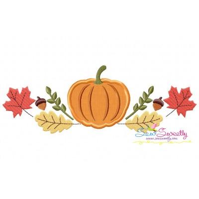 Pumpkin Swag Applique Design