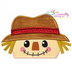 Scarecrow Topper Applique Design