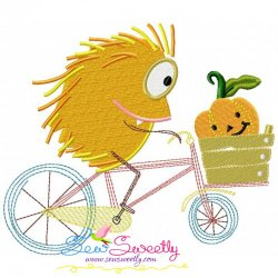 Halloween Bike- Hedgehog Embroidery Design