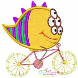 Halloween Bike- Monster Applique Design