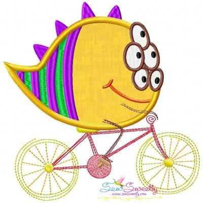Halloween Bike- Monster Applique Design