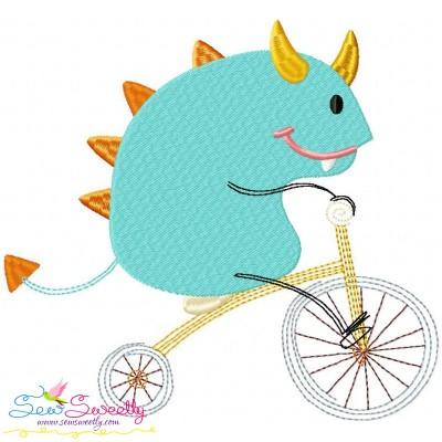 Halloween Bike- Monster-2 Embroidery Design