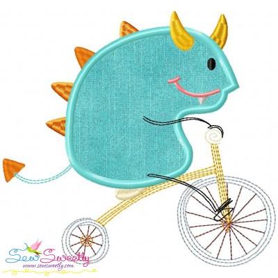Halloween Bike- Monster-2 Applique Design