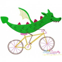 Halloween Bike- Dragon Embroidery Design