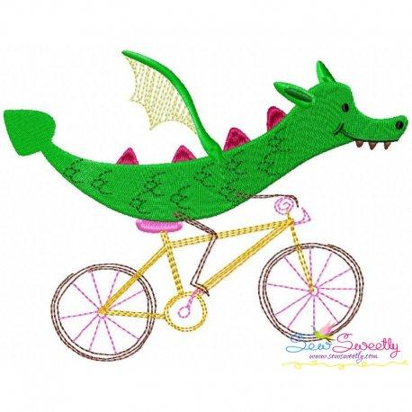 Halloween Bike- Dragon Embroidery Design