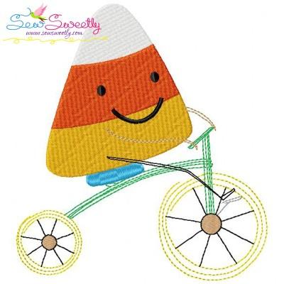 Halloween Bike- Candy Corn Embroidery Design