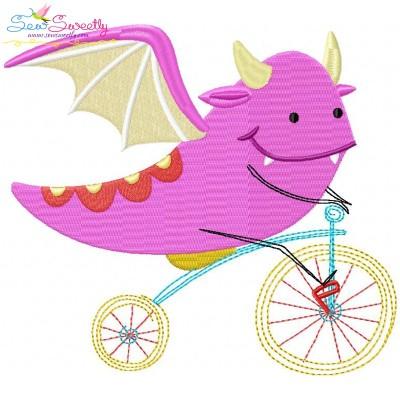 Halloween Bike- Dragon-2 Embroidery Design