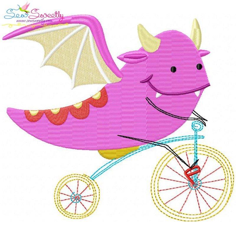 Graphic Design Dragon Machine Embroidery