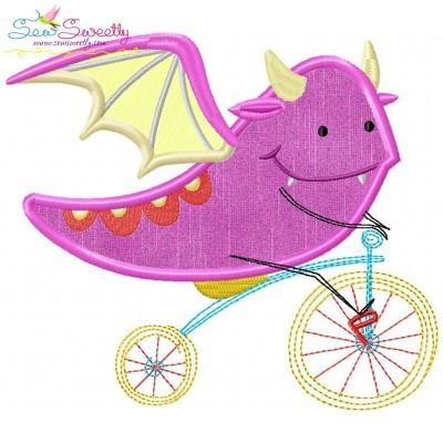 Halloween Bike- Dragon-2 Applique Design