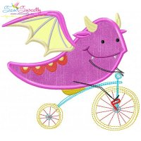 Halloween Bike- Dragon-2 Applique Design