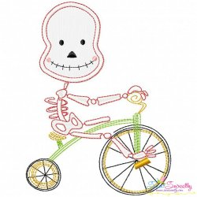 Halloween Bike- Skeleton Applique Design