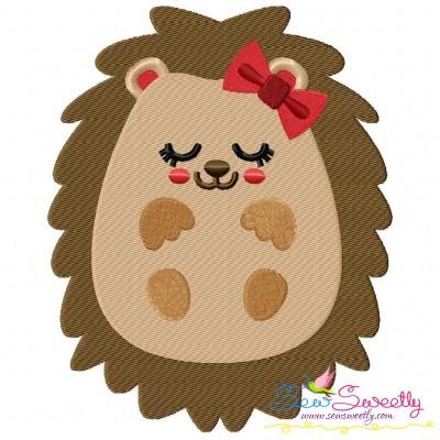 Hedgehog Sleeping Embroidery Design