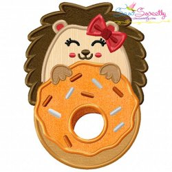 Hedgehog Doughnut Applique Design