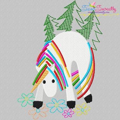 Artistic Unicorn-10 Embroidery Design