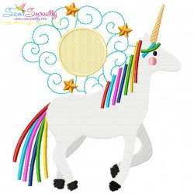 Artistic Unicorn-8 Embroidery Design