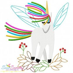 Artistic Unicorn-7 Embroidery Design