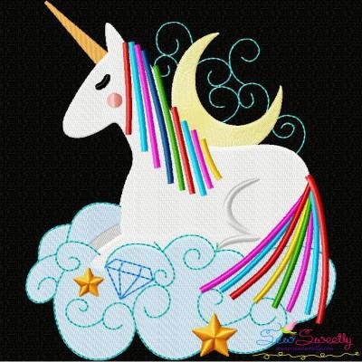 Artistic Unicorn-6 Embroidery Design
