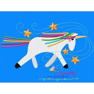 Artistic Unicorn-2 Embroidery Design