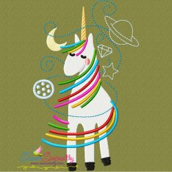 Artistic Unicorn-1 Embroidery Design