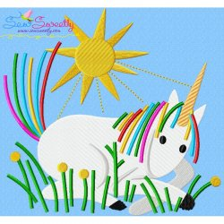 Artistic Unicorn-3 Embroidery Design
