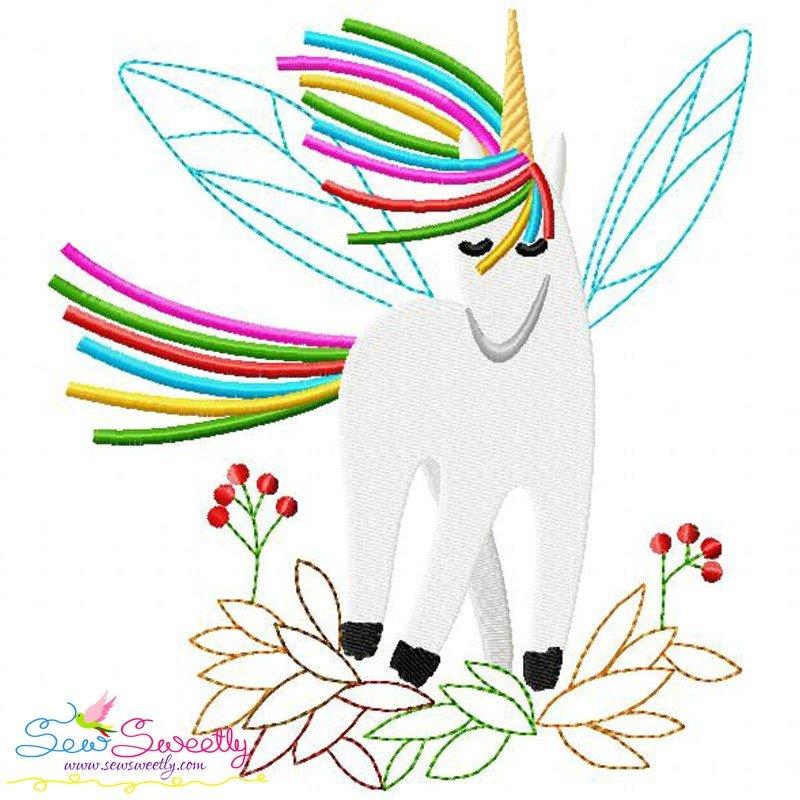 Artistic unicorns machine embroidery design bundle for