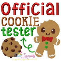Official Cookie Tester-2 Embroidery Design