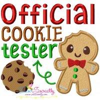 Official Cookie Tester-2 Applique Design