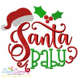 Santa Baby Embroidery Design
