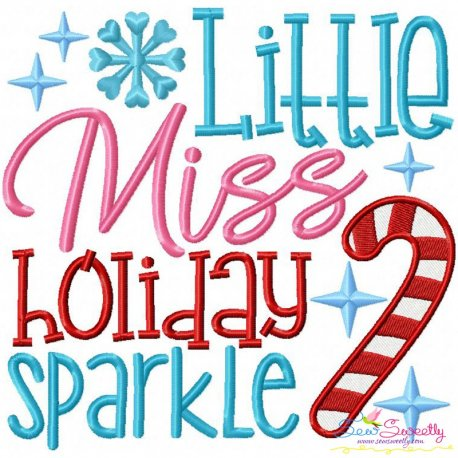 Little Miss Holiday Embroidery Design