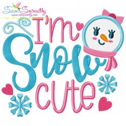 Snow Cute Applique Design