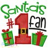 Santa's No-1 Fan Applique Design Pattern- Category- Christmas Designs- 1