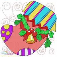 Christmas Block- Stocking Embroidery Design